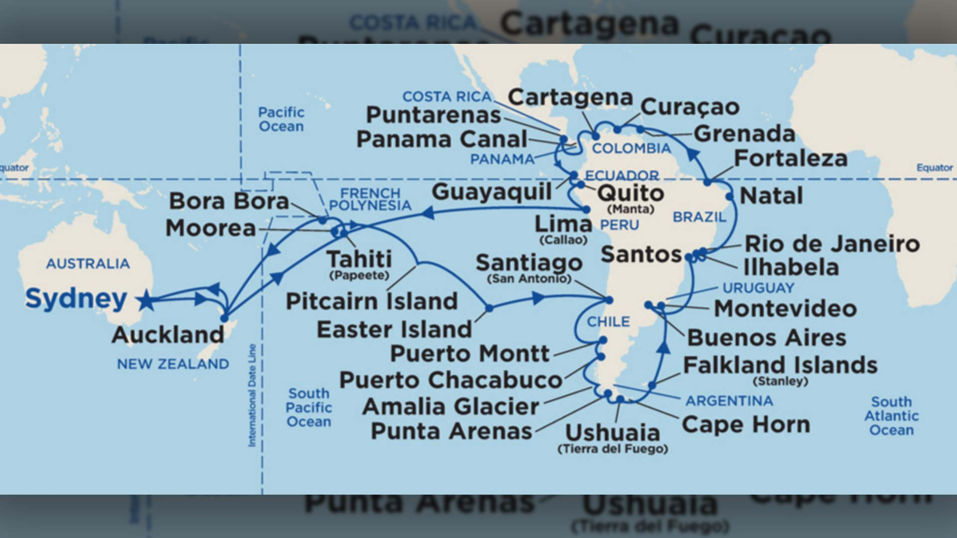NEW - Circle South America (including Rio Carnival!) - 90 day cruise in 2021