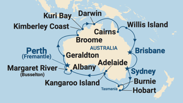 JOIN THE WAITLIST: Cruise all around Australia in 2022 or 2023!