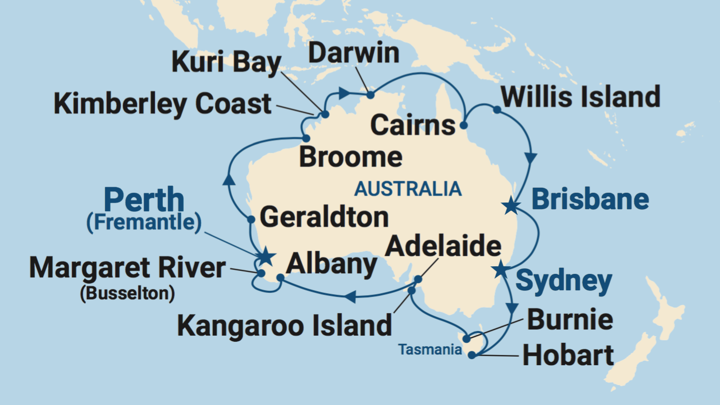 Cruise all around Australia in 2022 or 2023!
