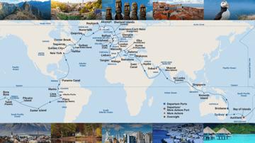 107-night Around the World Cruise (Sydney & Brisbane roundtrips, June 2023)