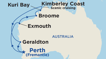 Coral & Kimberley Coast Discovery Cruise (Fremantle Roundtrip, March 2023)